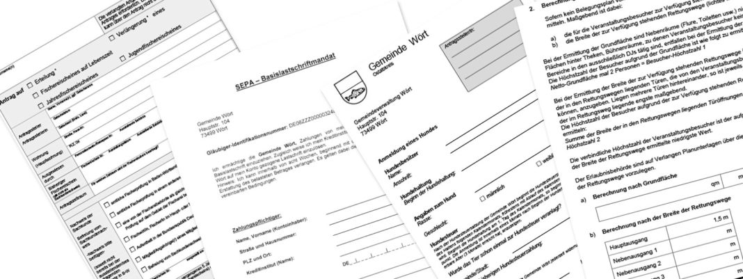 Formulare zum Download